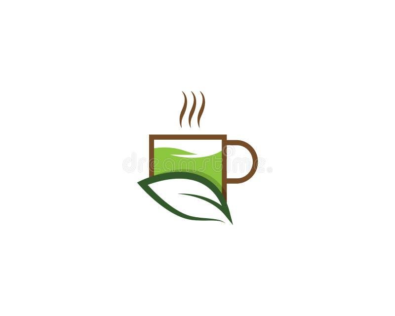 Logoillustration f?r gr?nt te vektor illustrationer