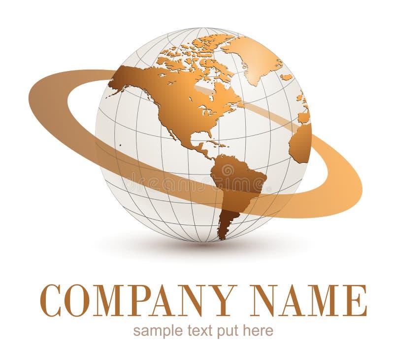 Logojordklot stock illustrationer