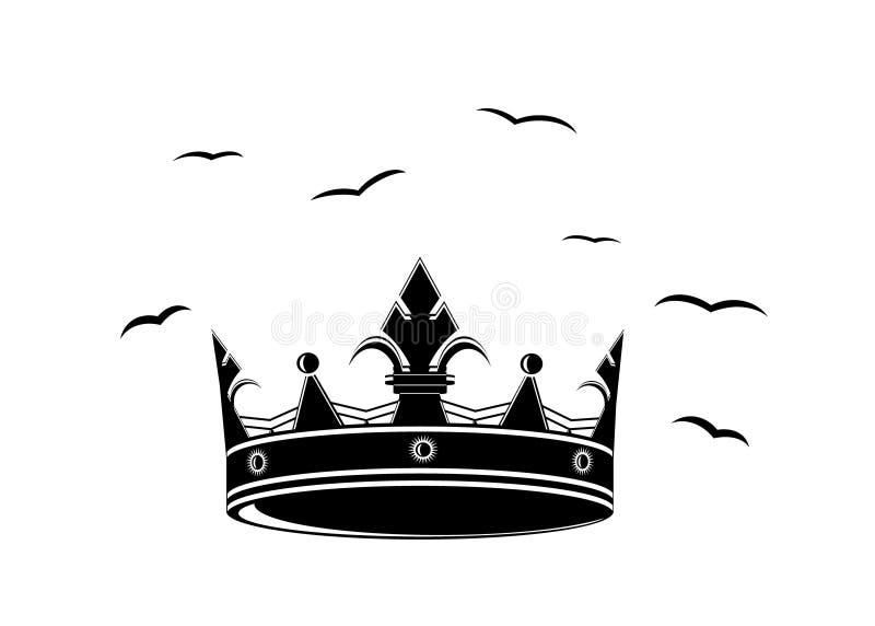 Logokrona stock illustrationer