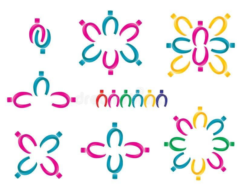 logolagarbete royaltyfri illustrationer