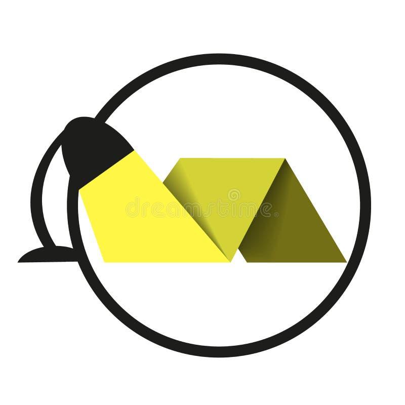 Logolampa stock illustrationer