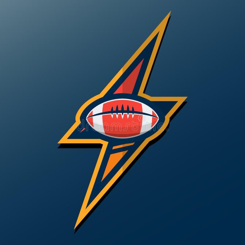 Logomall för amerikansk fotboll Vektorhögskolalogoer Illustrati stock illustrationer