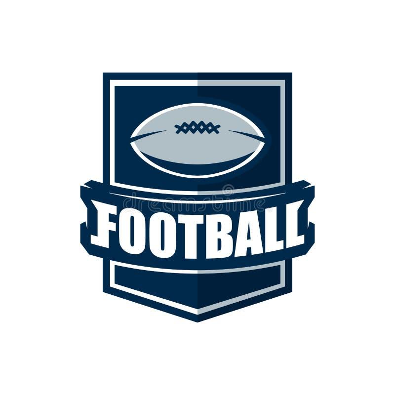 Logomall för amerikansk fotboll Vektorhögskolalogoer Illustrati royaltyfri illustrationer