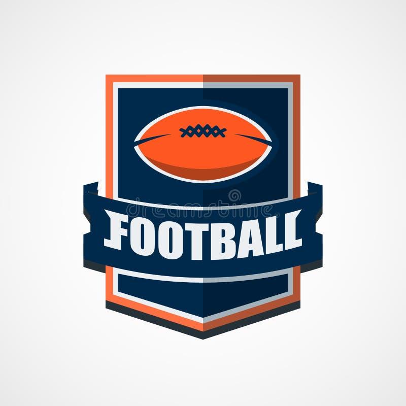 Logomall för amerikansk fotboll Vektorhögskolalogoer Illustrati vektor illustrationer