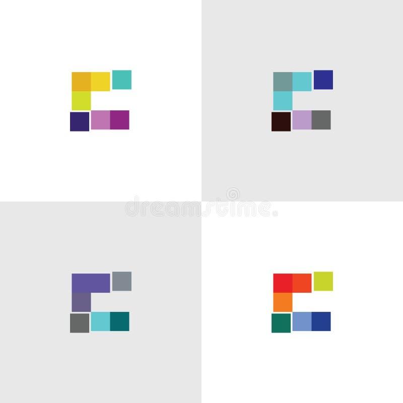 Logomall för bokstav C royaltyfri illustrationer