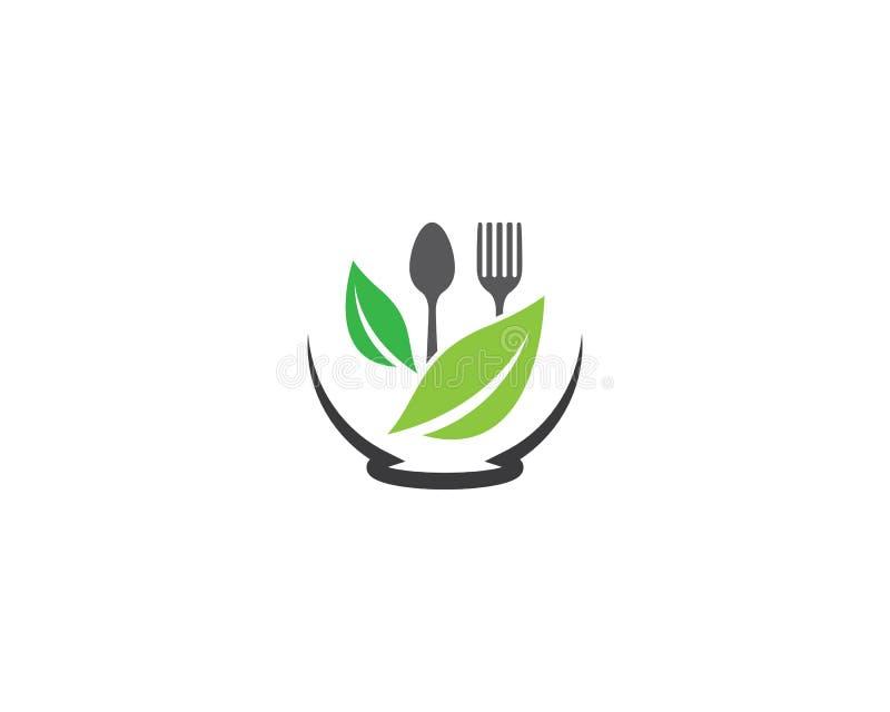 Logomall för organisk mat vektor illustrationer