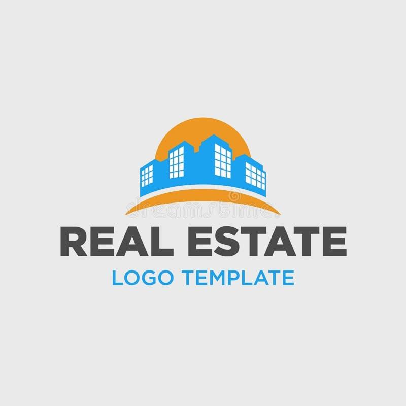 Logomall f?r fastighetf?retag stock illustrationer