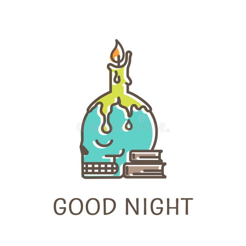 Logomall - ljusstake stock illustrationer