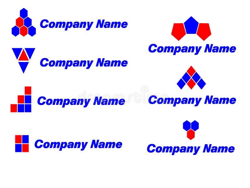 Logomallar stock illustrationer