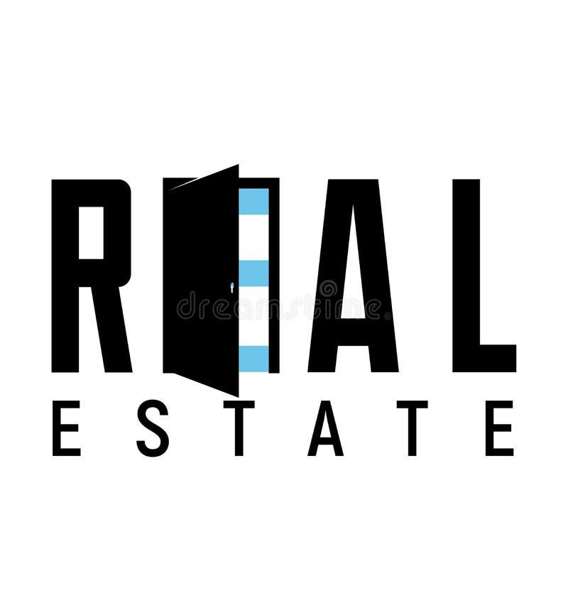 Logomallfastighet, lägenhet, andelsfastighet, hus Stil för vektorillustrationlägenhet Logotyp för uthyrnings- affär Symbol för öp vektor illustrationer