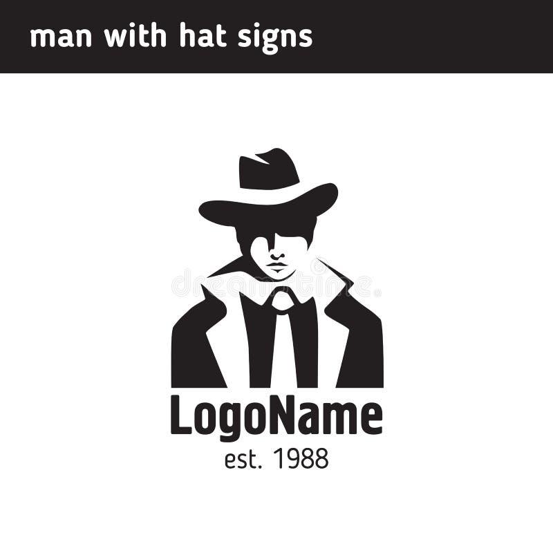 Logomann in einem Hut vektor abbildung