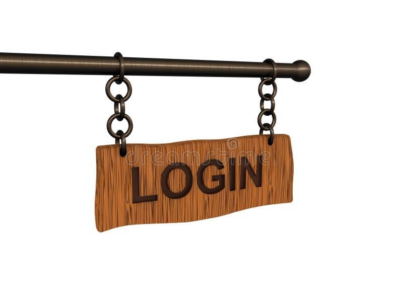LOGON-Fahne lizenzfreie abbildung