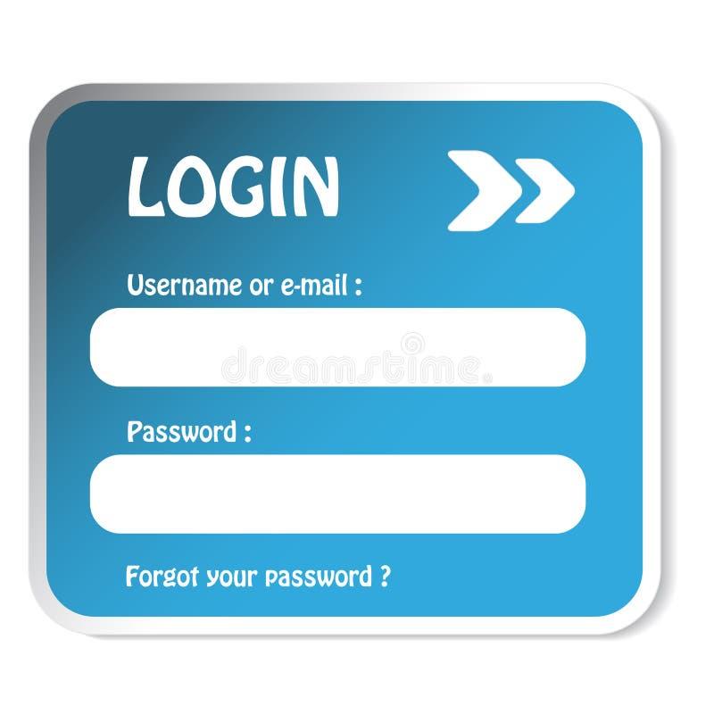 LOGON-Formular stock abbildung