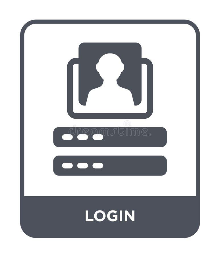 LOGON-Ikone in der modischen Entwurfsart LOGON-Ikone lokalisiert auf weißem Hintergrund einfaches und modernes flaches Symbol der stock abbildung