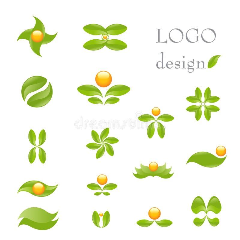 logonatur vektor illustrationer