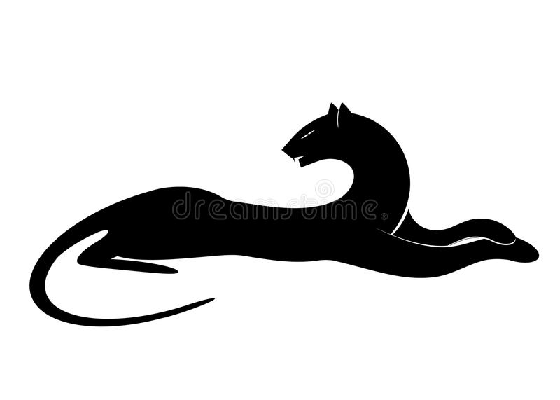 Logopanter vektor illustrationer