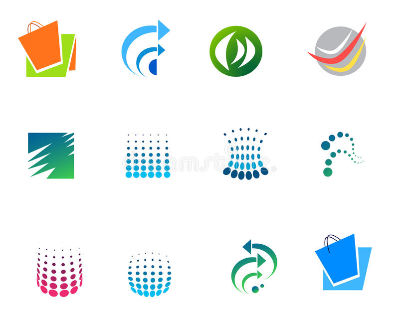 Logos. Different types of company logos. ai file is available stock illustration