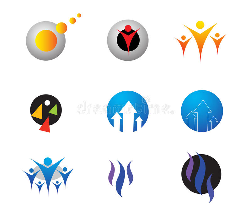 Logos. Different types of company logos. ai file is available vector illustration