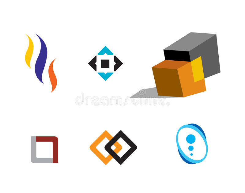 Logos. Different types of company logos. ai file is available royalty free illustration