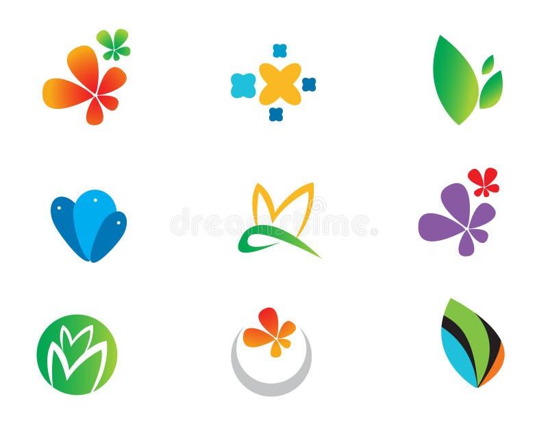 Variety of natural theme logos royalty free illustration