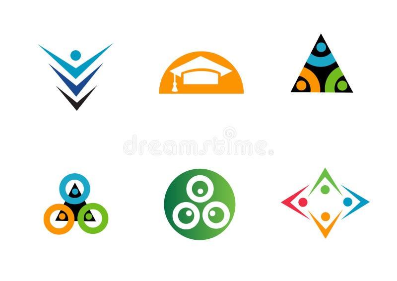 Various geometric design company logos vector illustration