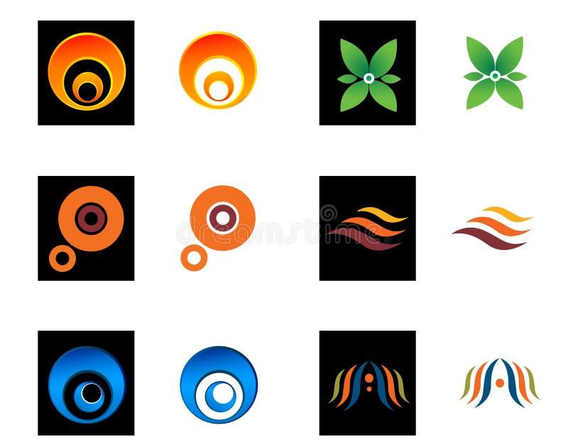 Geometric company logo illustrations stock illustration