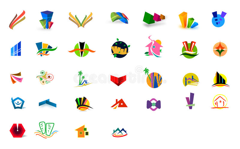 Logos. For modern company. ai file available stock illustration