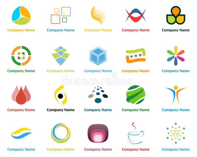 Logos. Set of company logo design templates