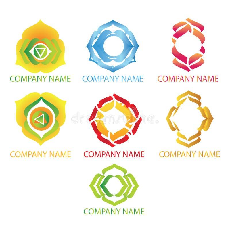 Logos abstraits de yoga image stock