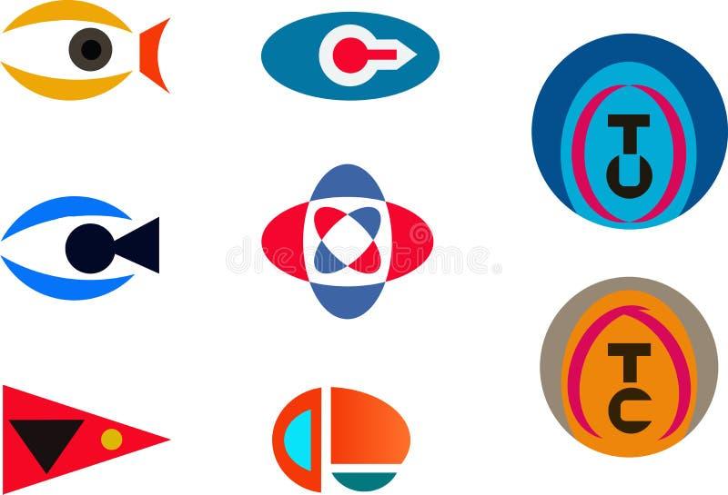 Logos abstraits - la vision, appareil-photo, oeil, font attention, merci illustration libre de droits