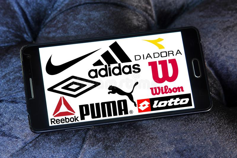 Sportswear logos and icons stock images