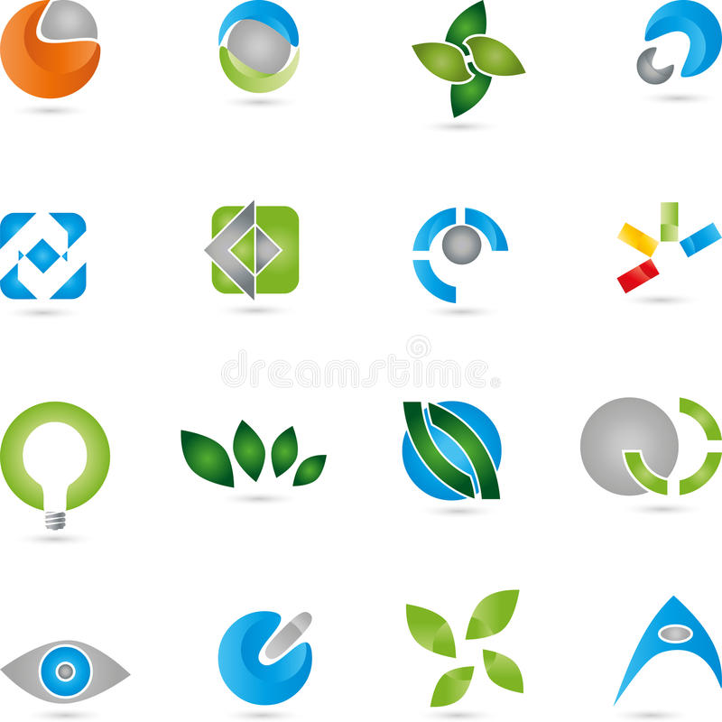 Logos, collection, services, service informatique illustration stock