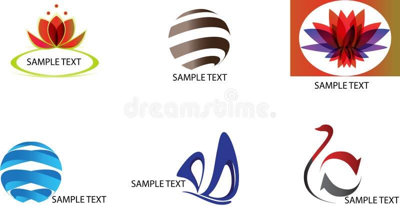 Logos d'échantillon illustration de vecteur