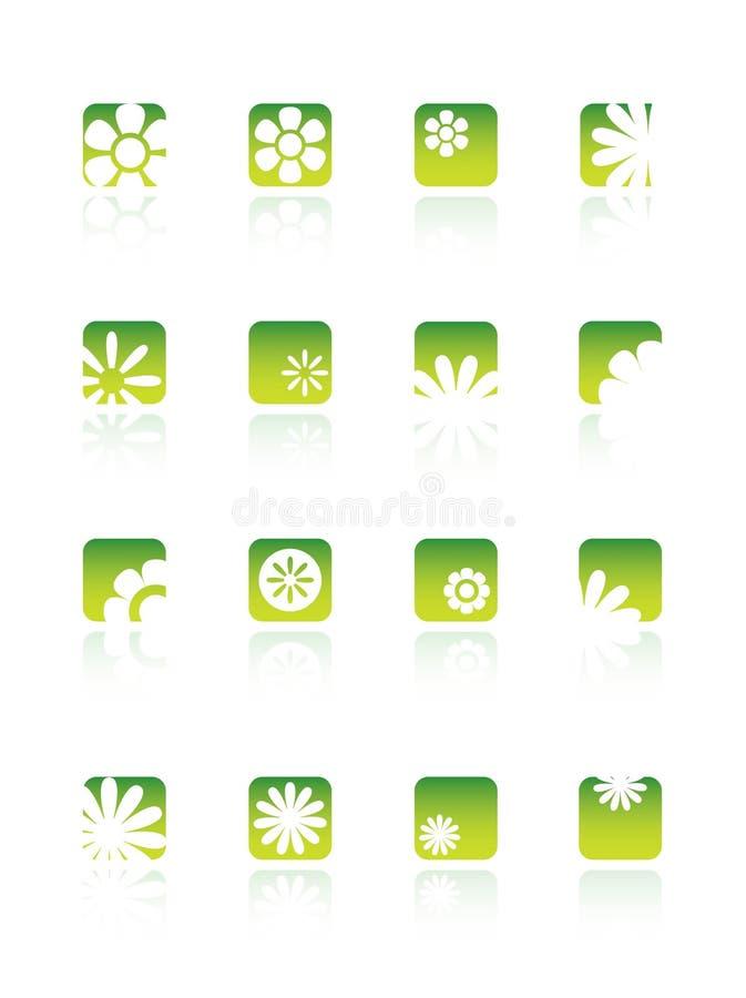 Logos d'affaires d'écologie illustration libre de droits