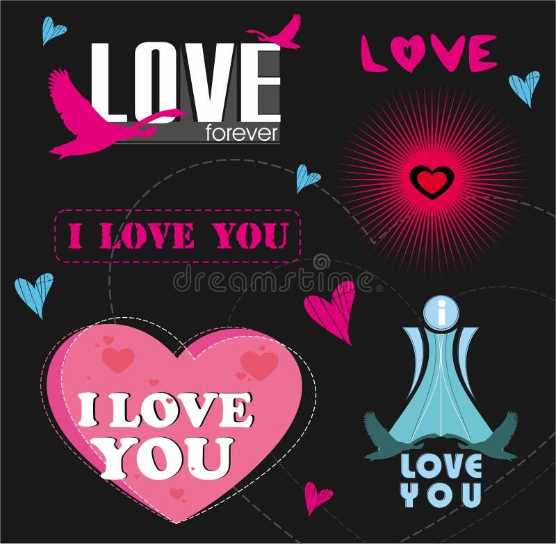 Logos d'amour illustration de vecteur