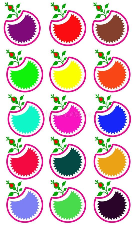 Logos d'Apple illustration de vecteur