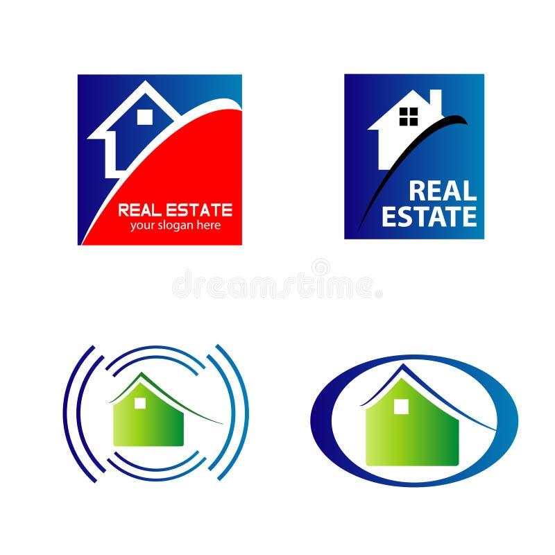 Logos d'icônes d'immobiliers et de construction illustration libre de droits
