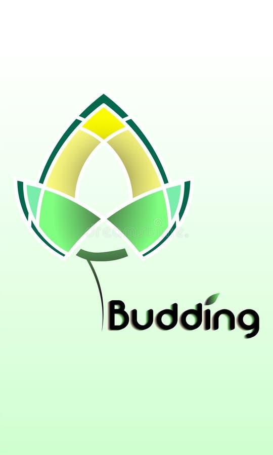 logos d'un bourgeon qui se développent et se développent illustration libre de droits
