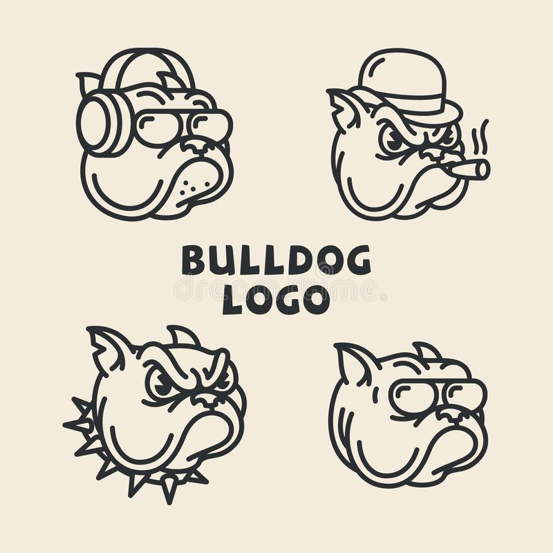 Logos de bouledogue illustration de vecteur
