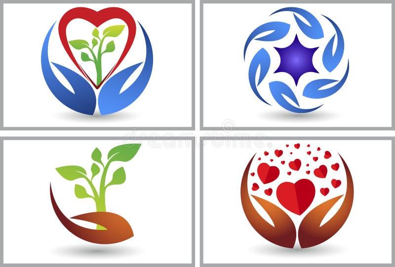Logos de collection de soin illustration stock