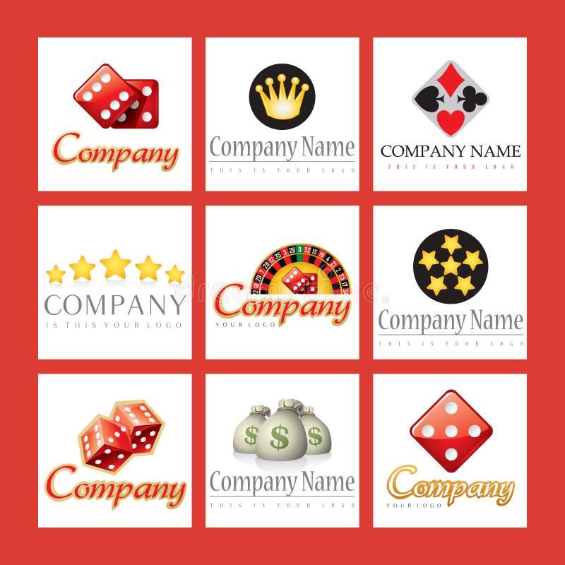 Logos de Comapany pour des casinos illustration libre de droits
