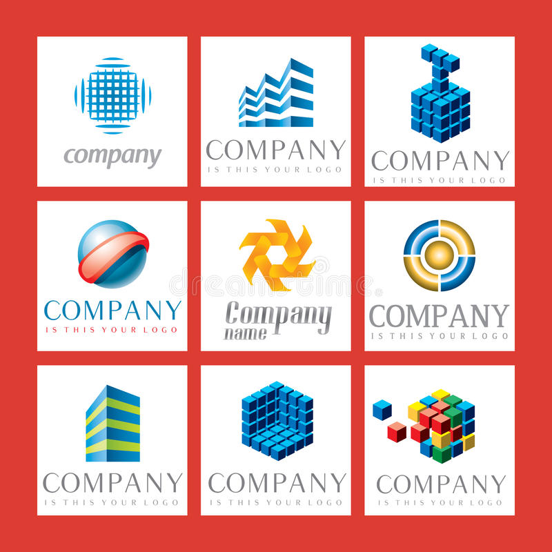 Logos de compagnie illustration stock
