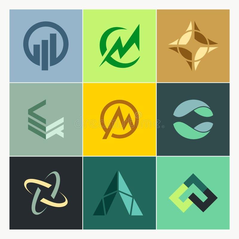 Logos de construction de finances d'affaires illustration stock