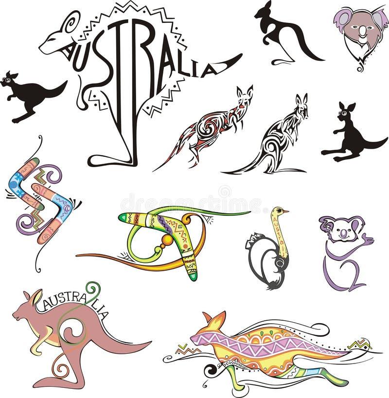 Logos de course de l'Australie illustration de vecteur