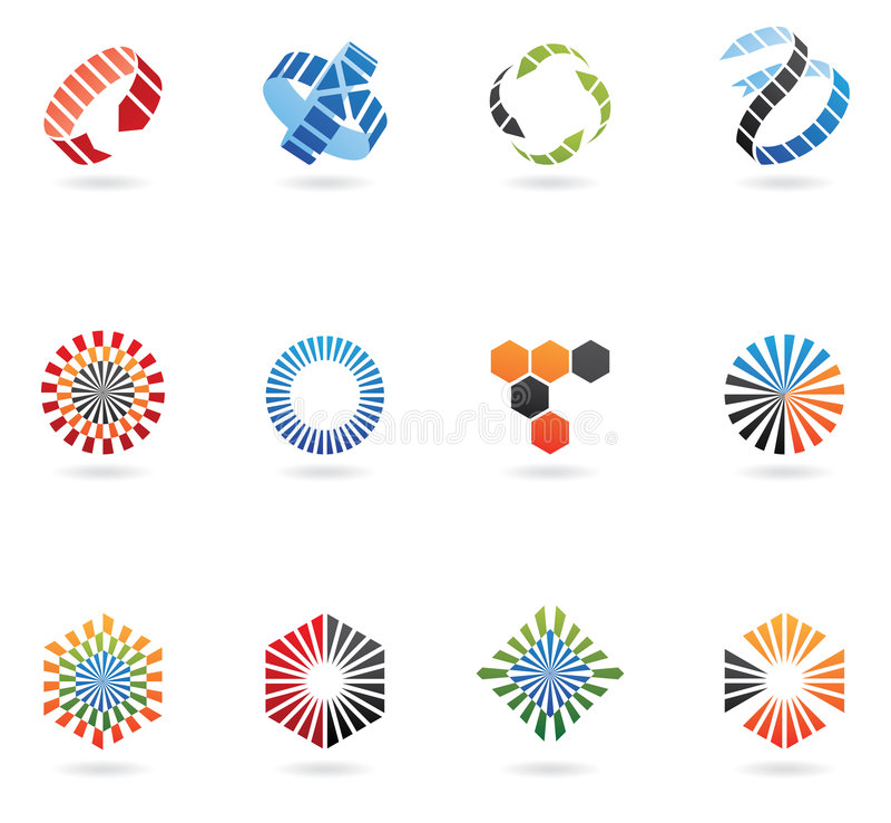 Logos de flèche illustration libre de droits