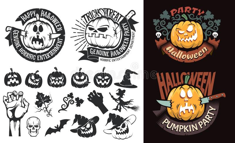 Logos de Halloween illustration libre de droits
