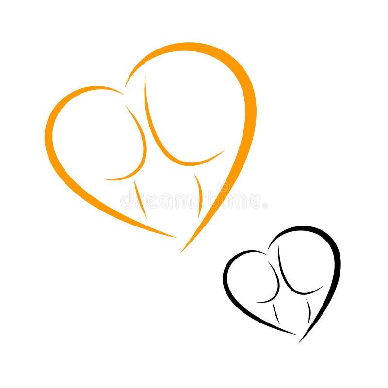 Logos de l'accouchement et de la maternité illustration de vecteur