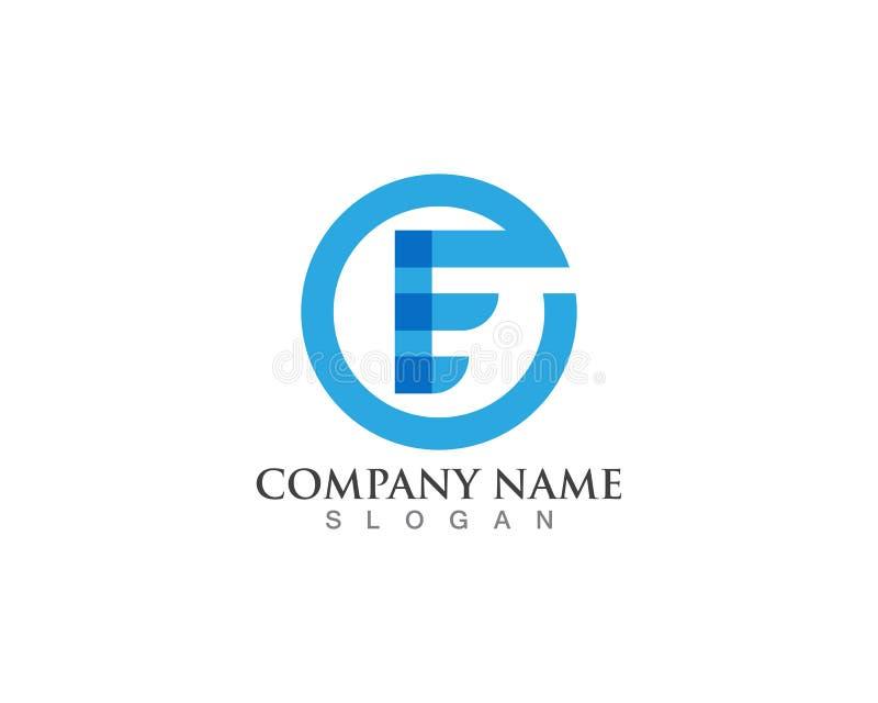 Logos de lettres d'E illustration de vecteur