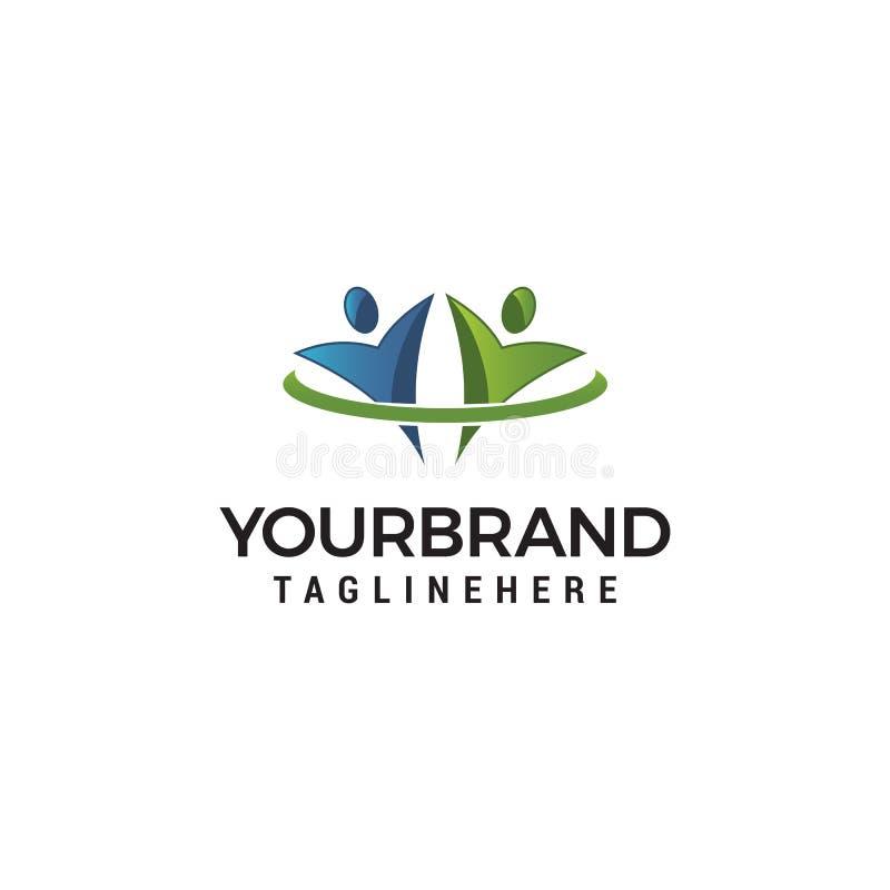 Logos de Logo Community Icon Template Design illustration de vecteur