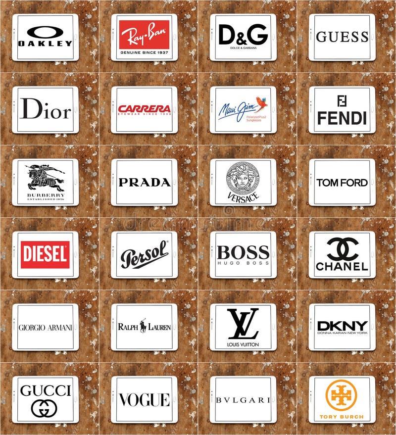 Logos de lunettes de soleil et de lunettes photographie stock libre de droits